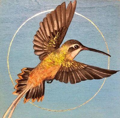 Louise McNaught, 'Koepcke's hermit Hummingbird', ermite de Koepcke, or ermitaño de Koepcke (Phaethornis koepckeae) ', 2019