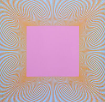 Richard Anuszkiewicz, 'Light Magenta Square', 1978