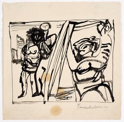 Jankel Adler, 'Untitled (Two Figures) ', Undated