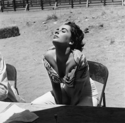 Sid Avery, 'Elizabeth Taylor Sunning Herself on the Marfa, Texas Set of Giant', 1955