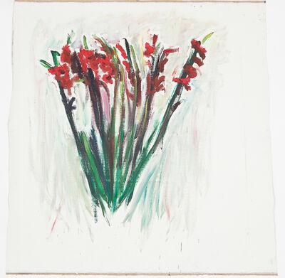 Damien Cabanes, 'Glaïeuls sur fond blanc et rose', 2018