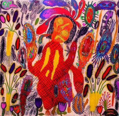 Peter Pongratz, 'frau mit rotem hut', 2008