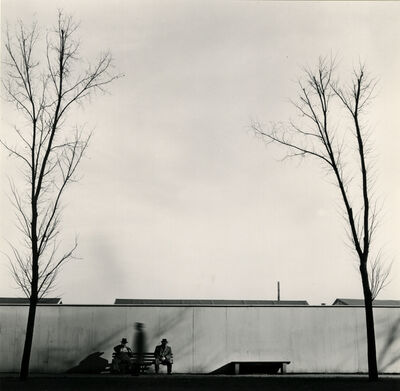 Joseph Sterling, 'Untitled (men on park bench)', 1957-printed c1957