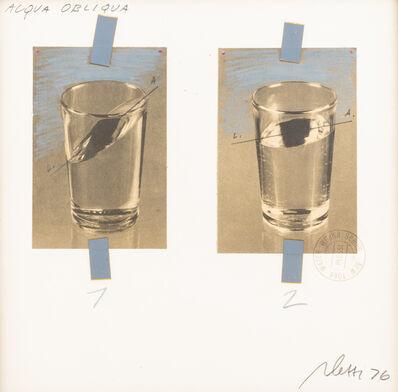 Fabrizio Plessi, 'Oblique water', 1976