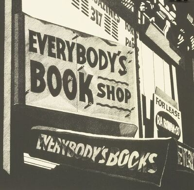 Robert Cottingham, 'Everybody's Book Shop - Everybody's Books', 1975