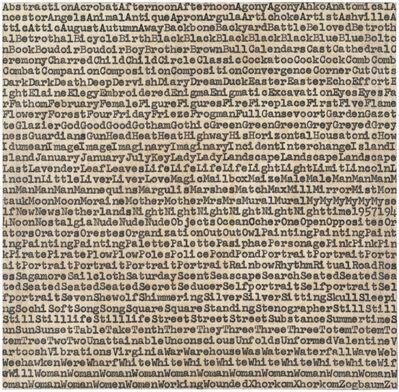 Carl Andre, 'de Kooning Gorky Pollack ', 1962