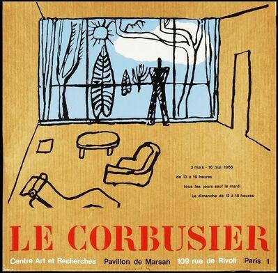 Le Corbusier, 'Rare, Original Poster for 1960s Centre Art et Recherches Exhibition, Palais du Louvre', 1966