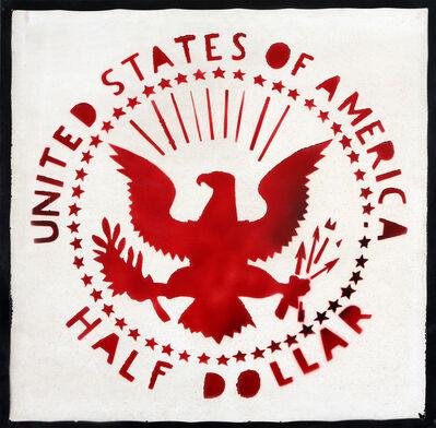 Franco Angeli, 'Half Dollar (Antipittura)', '80s