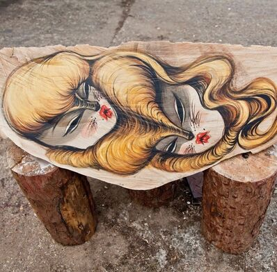 Miss Van, 'Wooden Twin Heads Floating', 2014