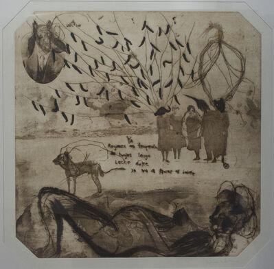 Guillermo Olguin, 'Árbol, hombre cabra y grupo antropomorfo y embarazada', 2018