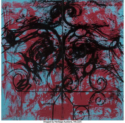 Jim Dine, 'Red and Blue Crommelynck Gate, diptych', 1982