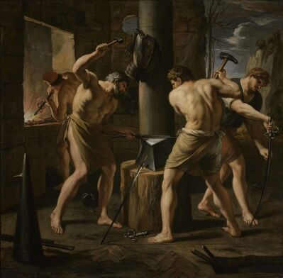 François Perrier, 'Forge of Vulcan', 1650