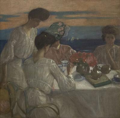 Frederick Carl Frieseke, 'Afternoon Tea on the Terrace', 1905-1906