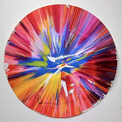 """Damien Hirst, '""""Circle Spin Painting"""" signed recto.', 2007"""