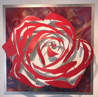 Michael Kalish, 'Rose - Red on Multicolor '