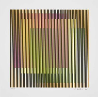 Carlos Cruz-Diez, 'Induction chromatique à double Fréquence 3', 2019