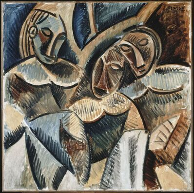 Pablo Picasso, 'Trois figures sous un arbre (Three figures under a tree)', Winter 1907-1908