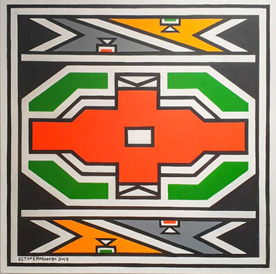 Esther Mahlangu, 'Ndebele Abstract - C000985', 2019