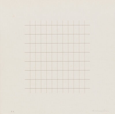 "Agnes Martin, 'Untitled from ""On a Clear Day""', 1973"