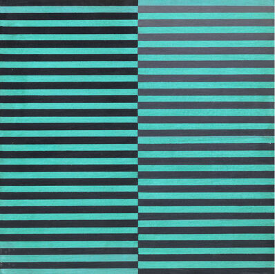 Dadamaino, 'Ricerca del colore. Marrone su azzurro', 1966-68
