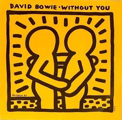 Keith Haring, 'Rare Original Keith Haring Vinyl Record Art (Haring David Bowie)', 1983