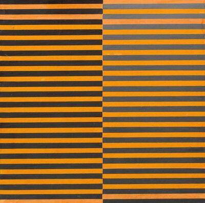 Dadamaino, 'Ricerca del colore. Nero su arancio', 1966-68