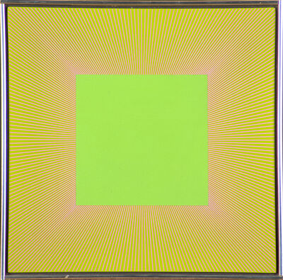 Richard Anuszkiewicz, 'Yellow Green Square', 1981