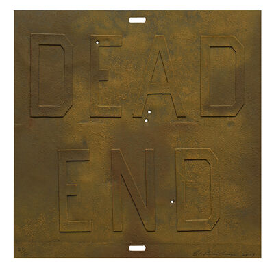 Ed Ruscha, 'Rusty Signs - Dead End 3', 2014