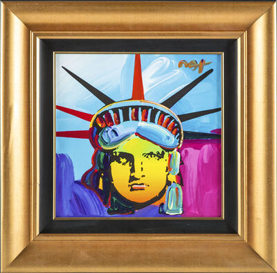 Peter Max, 'Peter Max Original Acrylic Painting on Canvas 1/1 Liberty 25k+ Gallery Retail', 2013