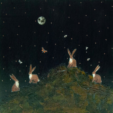 Ashley Anne Clark, 'Bunny Family with Butterflies', 2019
