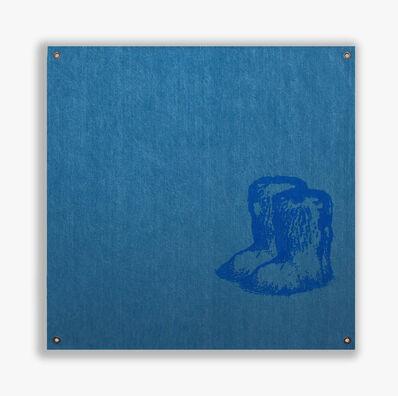 Sylvie Fleury, 'Chanel Yeti Boots (Blue Edition)', 2019