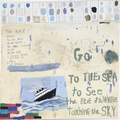 Squeak Carnwath, 'Go to the Sea                                                                                                                         ', 2018