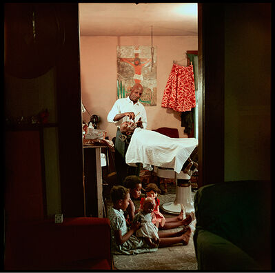 Gordon Parks, 'In-Home Barbershop, Shady Grove, Alabama', 1956