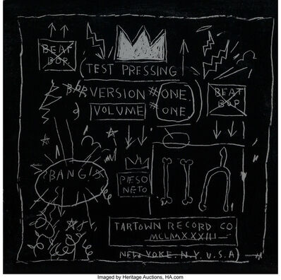 Jean-Michel Basquiat, 'Beat Bop Vinyl Record', 2001