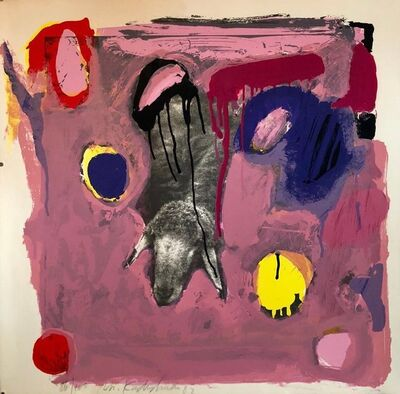 Menashe Kadishman, 'Israeli Modern Pop Art Photo Silkscreen Serigraph Abstract Paint Sheep Kadishman', 1980-1989