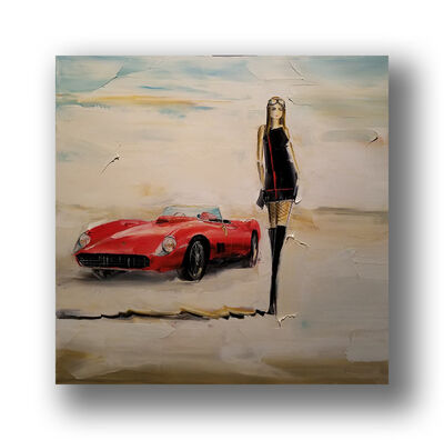 Chuck Joseph, 'Girl and Ferrari', 2020