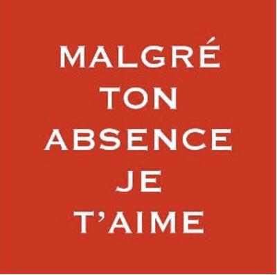Pep Agut, 'Malgré ton absence je t' aime', 2003
