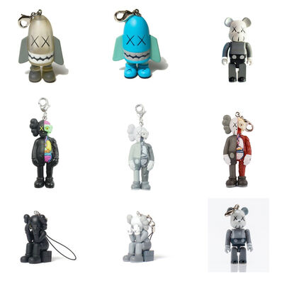 KAWS, 'OriginalFake Keychain (Set of 9) (Including Blitz & Companion)', 2000-2009