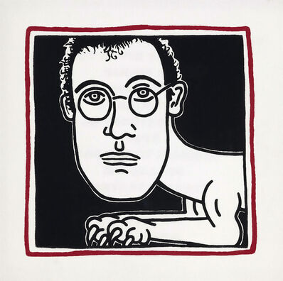 Keith Haring, 'Keith Haring Dinner Palladium 1985 (Haring self-portarit) ', 1985