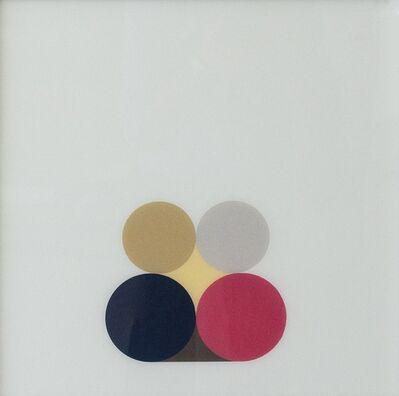 David Cantine, 'Primary Still Life with Browns - small, bright, minimalist acrylic on plexiglass', 2003