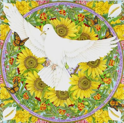 Mary Lee Eggart, 'Circles of Prayer: Prayer for Peace', 2016