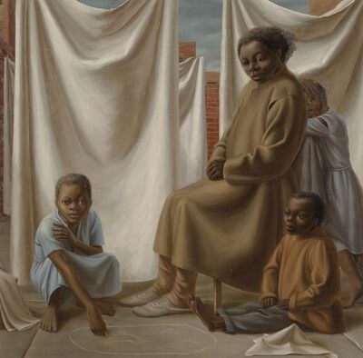 George Tooker, 'Laundress', 1952