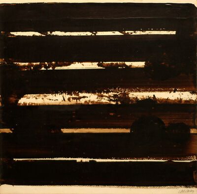 Pierre Soulages, 'Walnut stain on paper, 2001', 2001