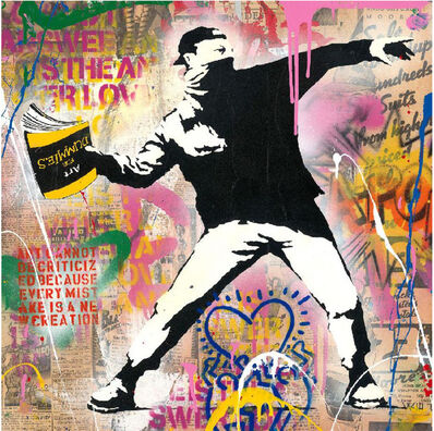 Mr. Brainwash, 'Banksy Thrower', 2020