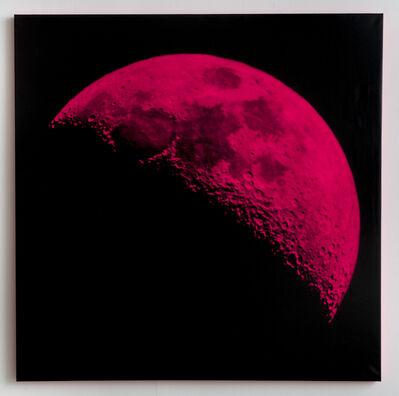 Andy Gershon, '35% Illumination 9/26/17 (Pink/Black)', 2017