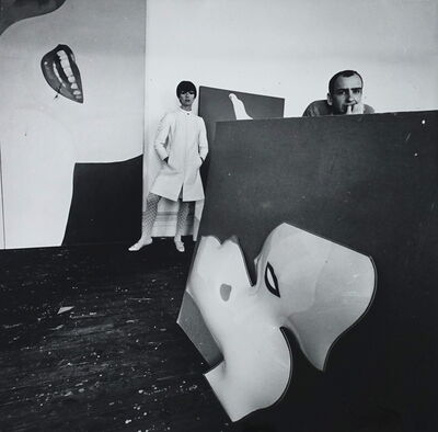 Guy Bourdin, 'With Tom Wesselman', 1966