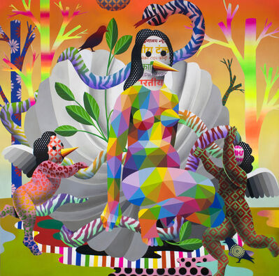 Okuda San Miguel, 'Venus of the Cement Shell', 2018