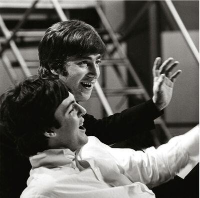 Terry O'Neill, 'Paul McCartney and John Lennon, Wembley Studios', 1964