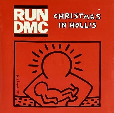 Keith Haring, 'Rare Original Keith Haring Vinyl Record Art (Run Dmc Christmas) ', 1983