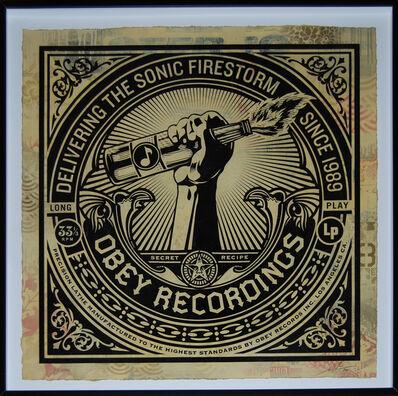 Shepard Fairey (OBEY), 'Sonic Firestorm HPM', 2013